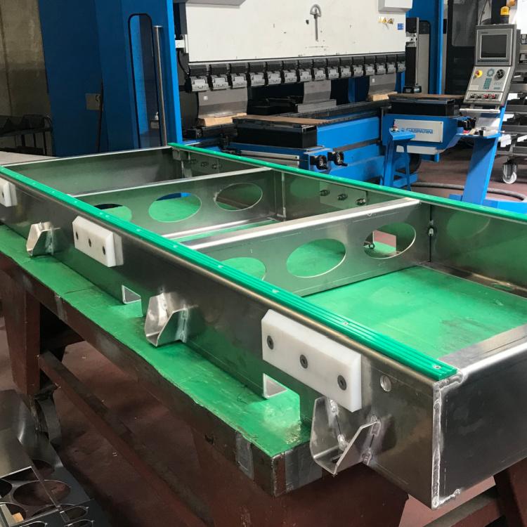 Chassisramme i aluminum lavet hos Star Industri af aluminum der har være forbi vores laserskære kant bukker og tigsvejser