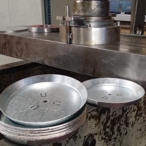 Her har Star Industri fremstilet et værktøj til at presse emner med til en o-serie af emner i galvaniseret stål